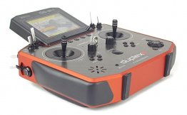 Jeti Model DS-24 Carbon Line Dark Orange Multimode Transmitter w/REX 3 900 AU Rx